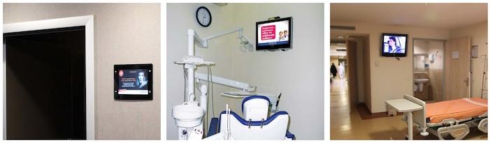 Hastalarailetmek istediğiniz tüm mesajları görsel zenginlikli sunumlarla Digital Signage uygulamarı üzerinden almalarını sağlayabilir; tesisinizin her noktasını iletişim alanına dönüştürebilirsiniz